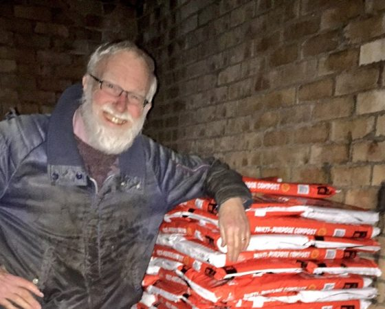 Eric & Our stash of Revive Compost