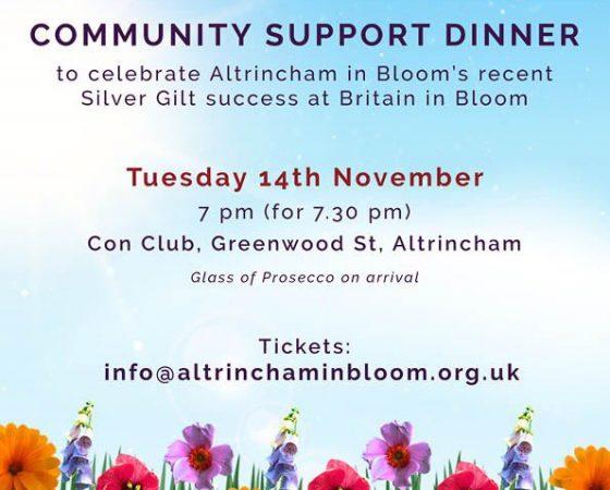Community Support Dinner – Nov 14th